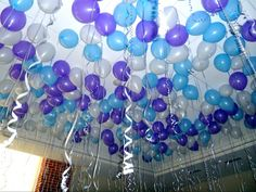 Gamma Nu-William Jewel. Cover the ceiling in balloons with curly ribbon dangling down. Looks so cool!