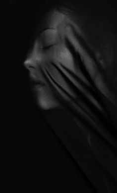 ☾ Midnight Dreams ☽  dreamy & dramatic black and white photography - black veil
