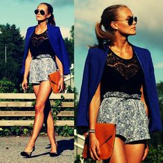 H Blazer, Top, Shorts (Sold Out), Bag, Shoes