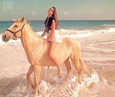 horse + beach = love