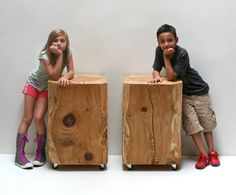 Timber Side Table Night Stand XL by realwoodworks1 on Etsy, $825.00