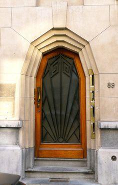 Art Deco Doorway. Belgium.
