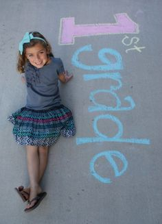 first day of school chalk photo - cute to do with your class and give as Christmas gifts or end of the year