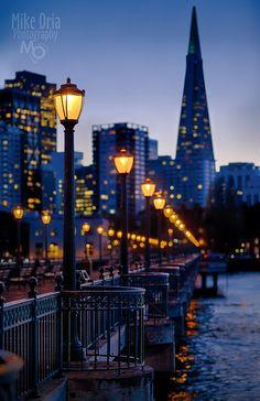 bluehour, blue sunset, blue hour, sanfrancisco, city lights