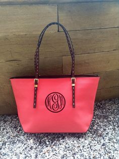 Monogram Purse in Paris Pink with A Rich Brown by IFlewTheNest $50
