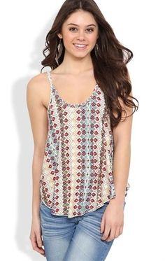 Deb Shops #Aztec Printed Tank Top $12.00