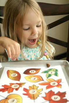 Roll and Say Fall ABC Game for Preschoolers--Includes free printable