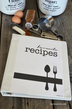 Favorite recipes cook book with free printables