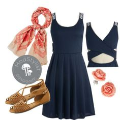 Today is the day to escape to the countryside with the windows down, wearing your Santiago Sunset Scarf and this sweet sun-dress. Feel free to let go of work-week stress and enjoy some time away, you deserve it! Perhaps even stop through your local farmers market to grab some treats for the trip!    Do you love #Polyvore? Would you like to be #ModStyled? Pop in and say 'hi' to us here: http://www.modcloth.com/modstylists