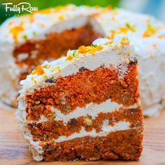 FullyRaw Carrot Cake! In celebration of my birthday, I want to share a slice of this sweetness with you! Where are my rabbits ...