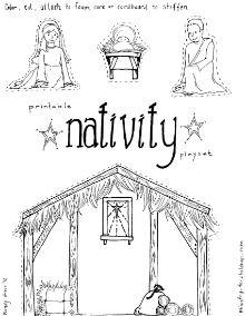Printable Nativity Playset
