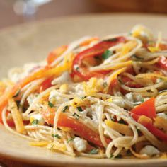 Sweet Potato and Red Pepper Pasta