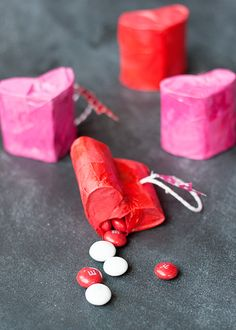 Oh my cuteness! Love these mini heart piñatas. #yearofcelebrations