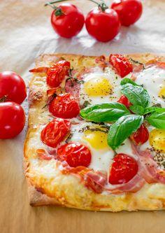 Pancetta & Gruyere Breakfast Pizza