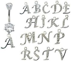 dangle belly button rings ? GlitZ JewelZ - laser cut CZ crystals - surgical steel 316L - bar length 3/8 inch (10mm) - many... shorl.com/...