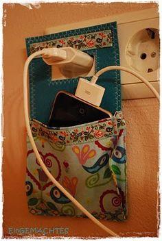 cell phone charger holder :)