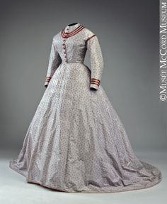 Dress with 2 Bodices 1868 M975.41.1.1-3 © McCord Museum