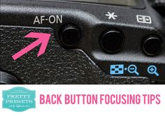 Back Button Focusing Tips