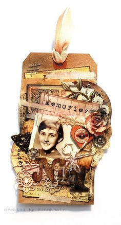 Tag - Sizzix, Tim Holtz and 7 Dots Studio by finnabair, via Flickr