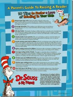 Raise a Reader, Dr. Seuss Parent Guide - Great tips to help your children love to read