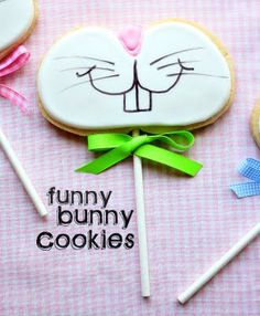 Funny Bunny Cookies {on a stick}