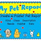 FREE! This pet Report is in poster form. It is perfect for Unit #1/Week #3 of McGraw Hill's Wonders series or ANY Pet Unit. Lots of elements are includ...