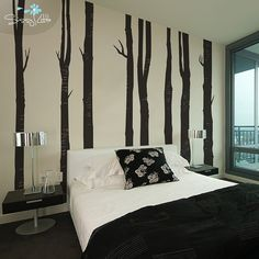 Woodland Trees  Set of 8  Wall Vinyl -  Love this!