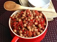 Easy Chickpea Ratatouille -- Leave out the optional oil for Phase 1, and swap a packet of stevia for the maple syrup.