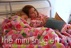Blanket with sleeves...for kids! (Link for making adult size available)