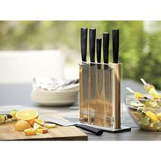 Schmidt™ Brothers 7-Piece Carbon6 Knife Block Set | Crate and Barrel