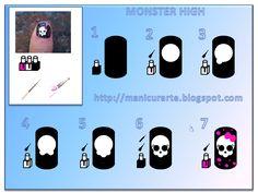 monster high nails tutorial