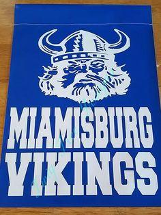 Miamisburg Vikings garden flag
