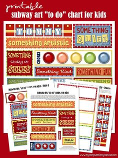 what to do when bored for kids, chore list printable, subway art, grandchildren idea, clean, printable chore cards, parent, craft project, chore charts