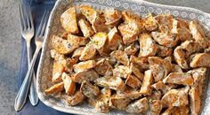 Creamy Grilled Sweet Potato Salad || Serves: 6 to 8 // Prep time: 20 minutes | Chilling time: at least 2 hours | Grilling time: 20 to 25 minutes | Special equipment: perforated grill pan
