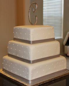 3 tier wedding cake. Simple and beautiful.