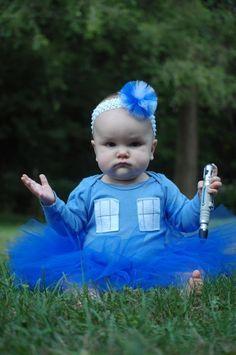 Adorable TARDIS Tutu costume