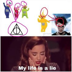 The Teletubbies are secretly Harry Potter sympathizers.