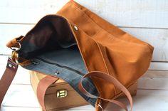CINNAMON BROWN  Messenger bag  / Shoulder Bag / Laptop by ikabags,