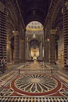 The Cathedral of Siena, province of Siena, Tuscany region.