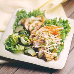 Szechwan Chicken Salad. Only 200 calories per serving!