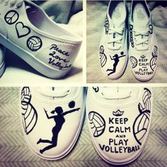 Keep Calm and Play Volleyball ON VANS Made to by BreakFreeDesigns, $80.00 @Pamela Culligan Hichens Szymanski