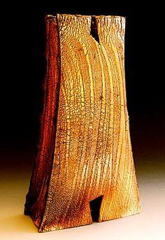 Akira Satake - Vase, stoneware, kohiki glaze #pottery #Japanese_pottery #ceramics #Japanese_ceramics  #vase