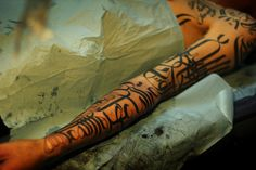Awesome Black Ink  http://www.tattooesque.com/wp-content/uploads/2014/03/Awesome-Black-Ink.jpg http://www.tattooesque.com/awesome-black-ink/ #ArmTattoos, #BlackGreyTattoo, #fullsleeve, #Unisex