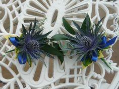 thistl buttonhol, galleries, idea, wedding bouquets, flower bouquets, thistles, floral designs, flowers, table designs