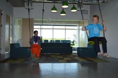 Our new Austin office has #swings.