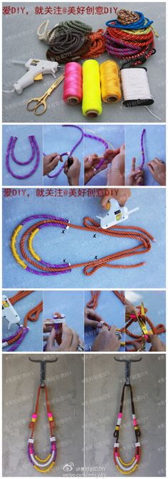 bungee cord necklace