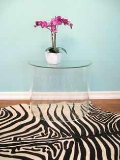 lucite table/ entryway or side table