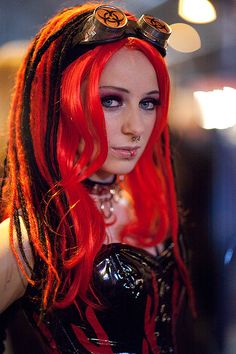 super cute Red haired #Goth girl