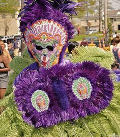 Mardi Gras Indian on Super Sunday in New Orleans. (Photo from flickr, courtesy of Groovescapes)