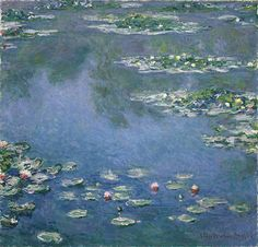 Water Lilies by Claude Monet, 1906 #art #painting #Impressionism #Claude #Monet #Water #Lilies